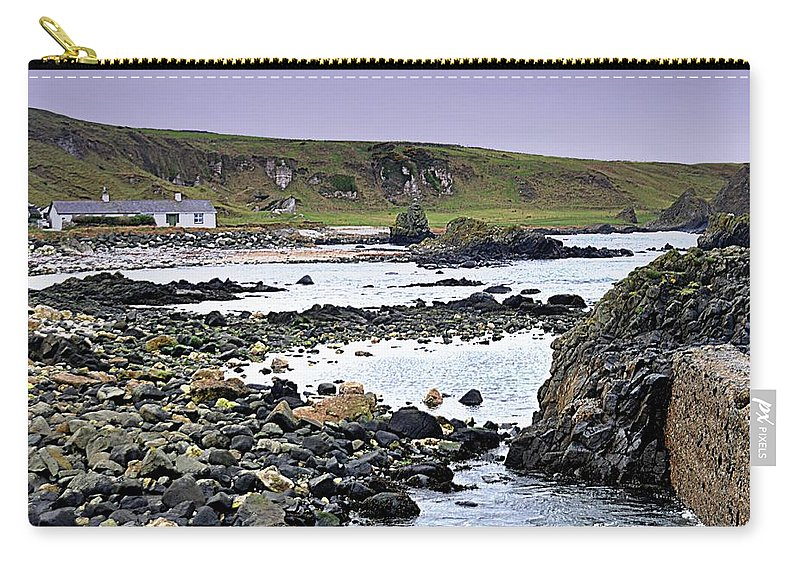 Ballintoy Carry-all Pouch featuring the photograph Ballintoy Cottage by John Hughes
