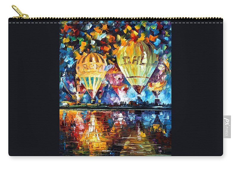 Afremov Carry-all Pouch featuring the painting Balloon Festival by Leonid Afremov