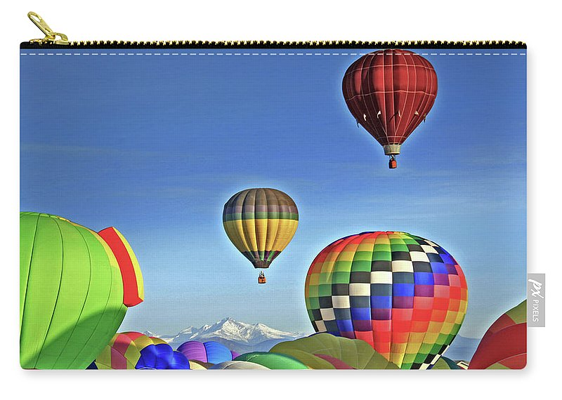 Colorado Carry-all Pouch featuring the photograph Ballooning Above Longs Peak by Scott Mahon