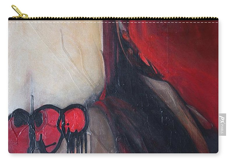 Abstract Carry-all Pouch featuring the painting Ballz by Marlene Burns