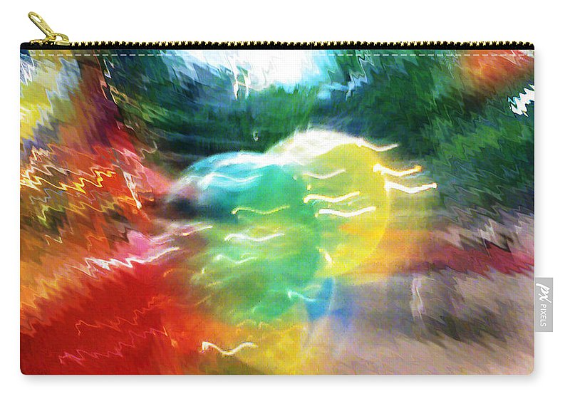 Baloons Carry-all Pouch featuring the painting Baloons n Lights by Anil Nene
