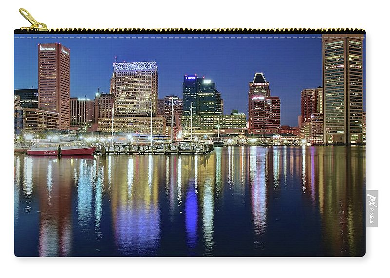 Baltimore Carry-all Pouch featuring the photograph Baltimore Blue Hour by Frozen in Time Fine Art Photography