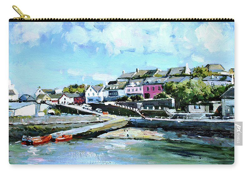 Baltimore Carry-all Pouch featuring the painting Baltimore Harbour County Cork by Conor McGuire