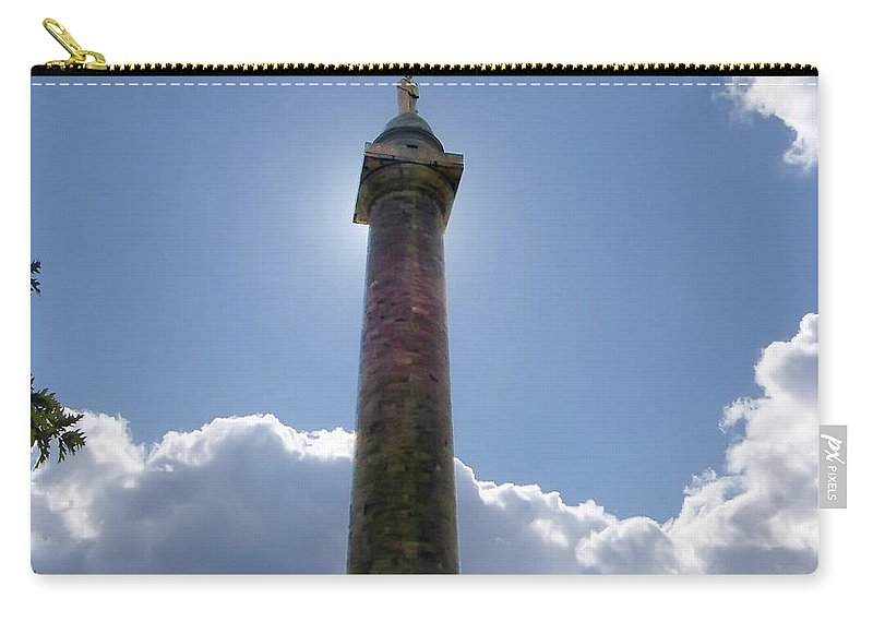 2d Carry-all Pouch featuring the photograph Baltimore's Washington Monument by Brian Wallace