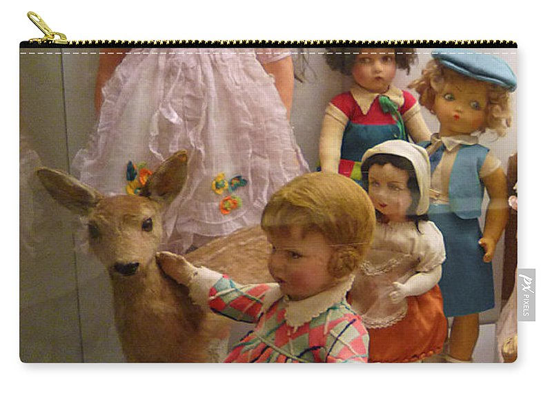 Deer Carry-all Pouch featuring the photograph Bambi And Baby by Charles Stuart