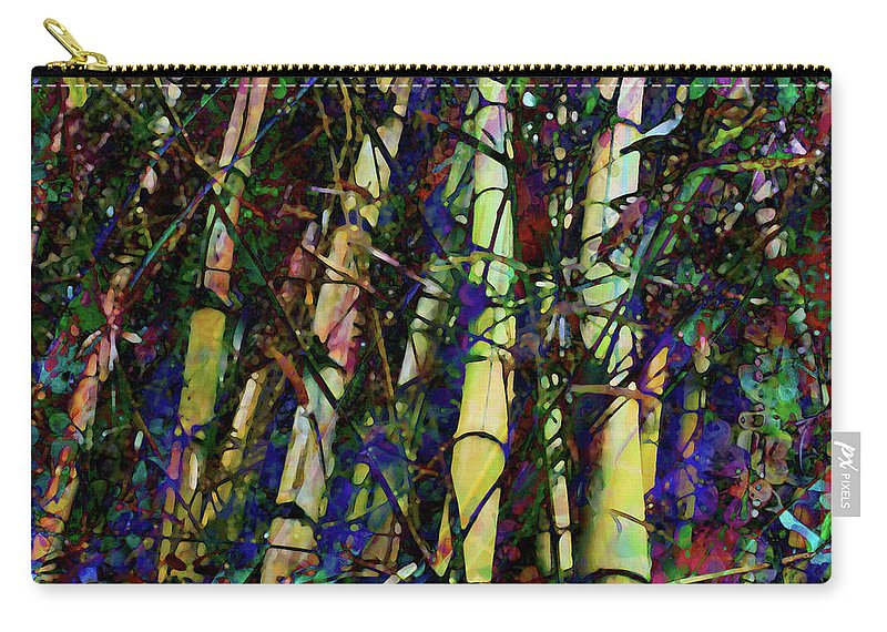 Bamboo Carry-all Pouch featuring the digital art Bamboo by Barbara Berney