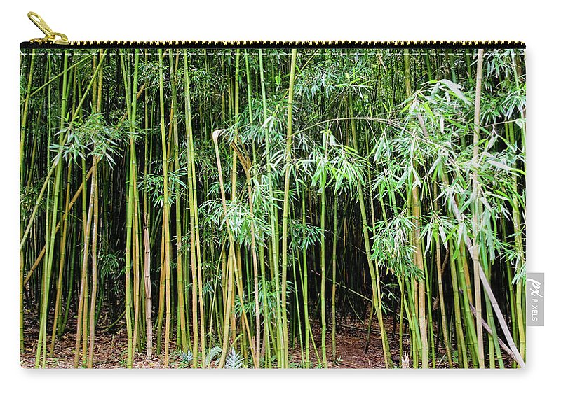 Bamboo Chimes Carry-all Pouch featuring the photograph Bamboo Chimes, Waimoku Falls trail, Hana Maui Hawaii by Michael Bessler