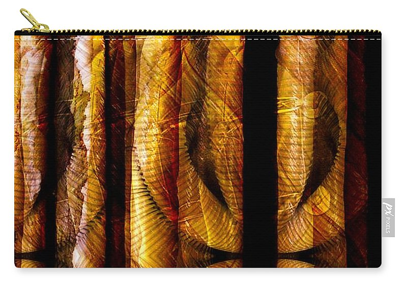 Bamboo Carry-all Pouch featuring the digital art Bamboo by Ron Bissett