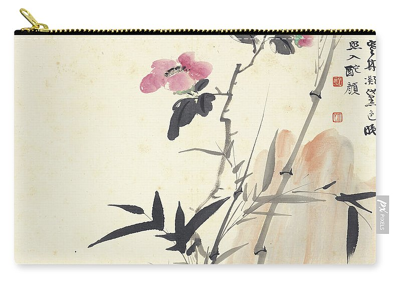 Bamboo Carry-all Pouch featuring the painting Bamboo by Zhang Daqian