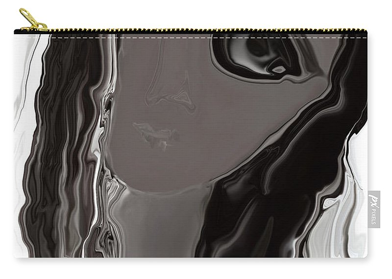 Abstract Carry-all Pouch featuring the digital art Banalata Sen by Rabi Khan