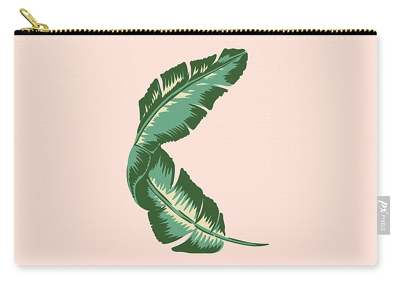 Leaf Carry-all Pouch featuring the digital art Banana Leaf Square Print by Lauren Amelia Hughes