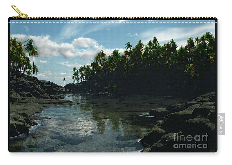 Rivers Carry-all Pouch featuring the digital art Banana River by Richard Rizzo