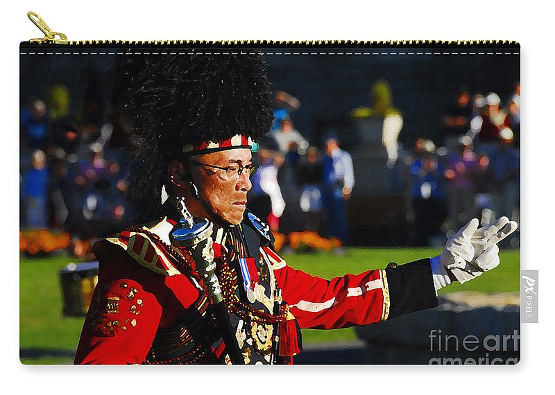 Band Leader Carry-all Pouch featuring the photograph Band Leader by David Lee Thompson
