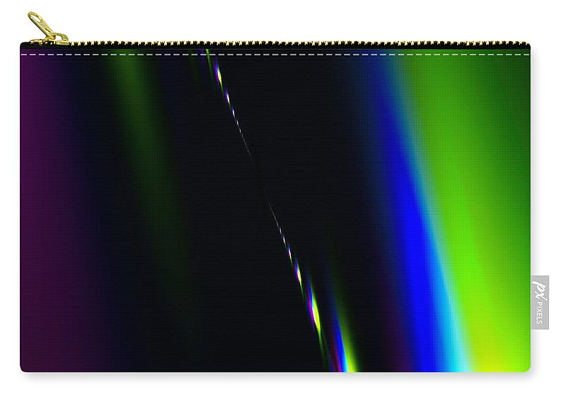 Fractal Carry-all Pouch featuring the digital art Band Of Colors by Jenn Teel