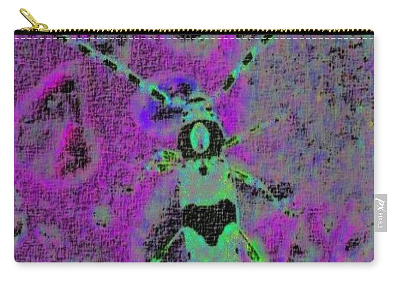 Beetle Carry-all Pouch featuring the photograph Banded Alder Borer by Tim Allen