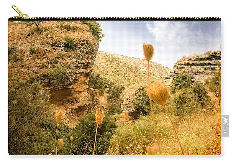 Spain Carry-all Pouch featuring the photograph Bandit Country Near The Edge Of The Fan In Ronda Area Andalucia Spain by Mal Bray