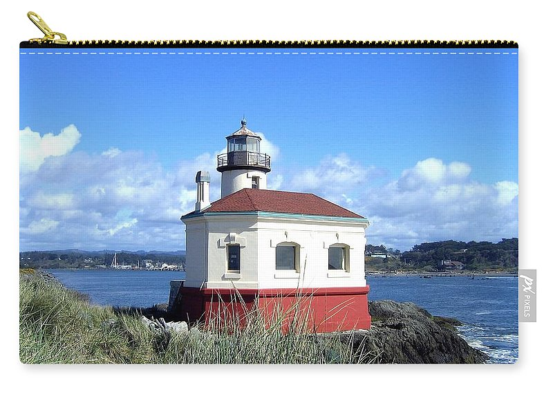Coquille Lighthouse Carry-all Pouch featuring the photograph Bandon 1 by Will Borden