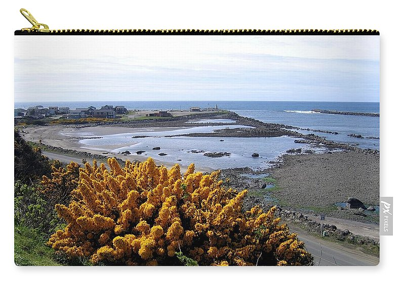Harbor Entrance Carry-all Pouch featuring the photograph Bandon Harbor Entrance by Will Borden