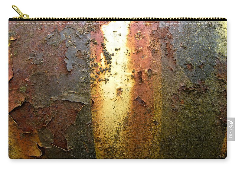 Weathered Metal Carry-all Pouch featuring the photograph Bands Of Color by Elaine Booth-Kallweit