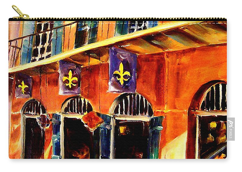 New Orleans Carry-all Pouch featuring the painting Banners On Royal Street by Diane Millsap