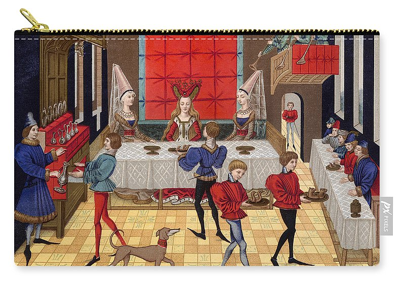 15th Century Carry-all Pouch featuring the photograph Banquet, 15th Century by Granger