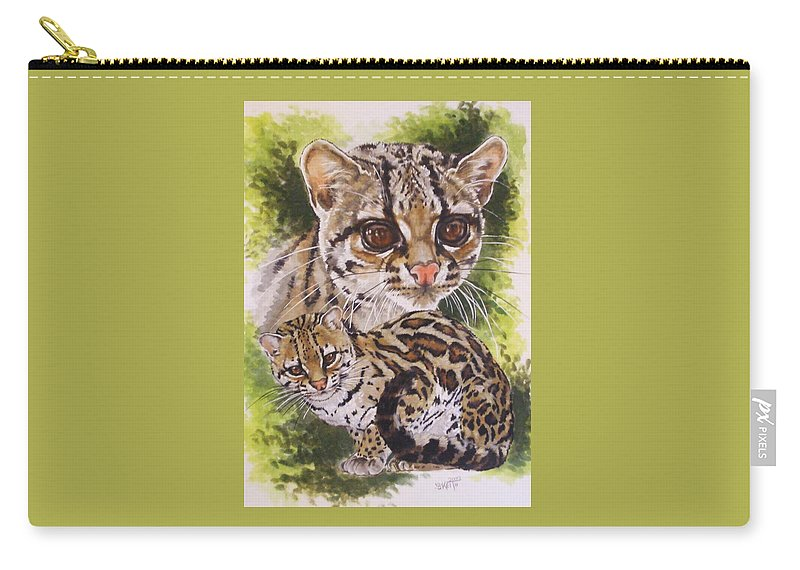 Margay Carry-all Pouch featuring the mixed media Bantam by Barbara Keith