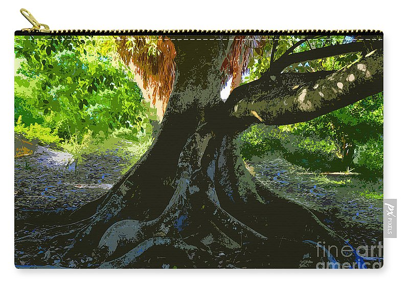 Banyan Tree Carry-all Pouch featuring the painting Banyan by David Lee Thompson