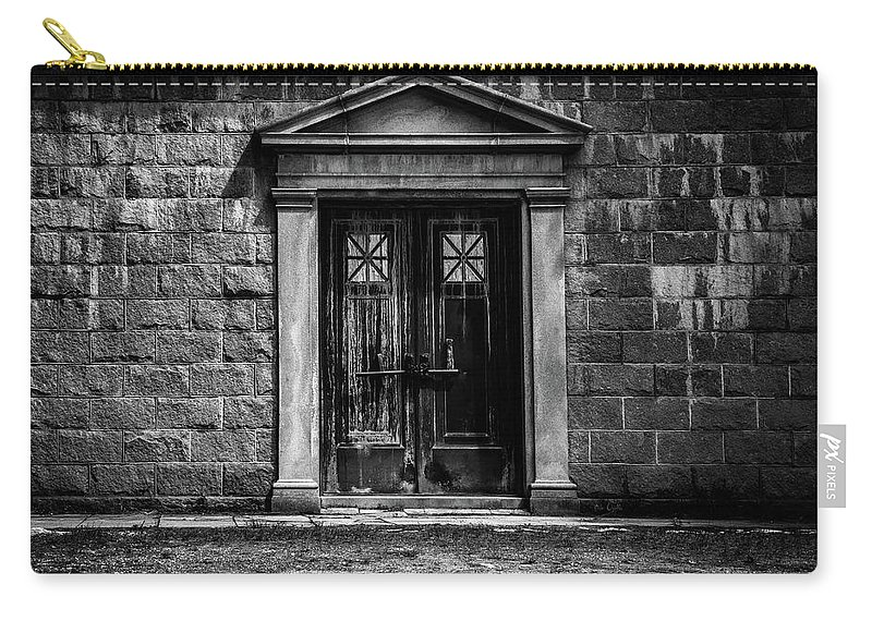 Dreamscape Carry-all Pouch featuring the photograph Bar Across The Door by Bob Orsillo