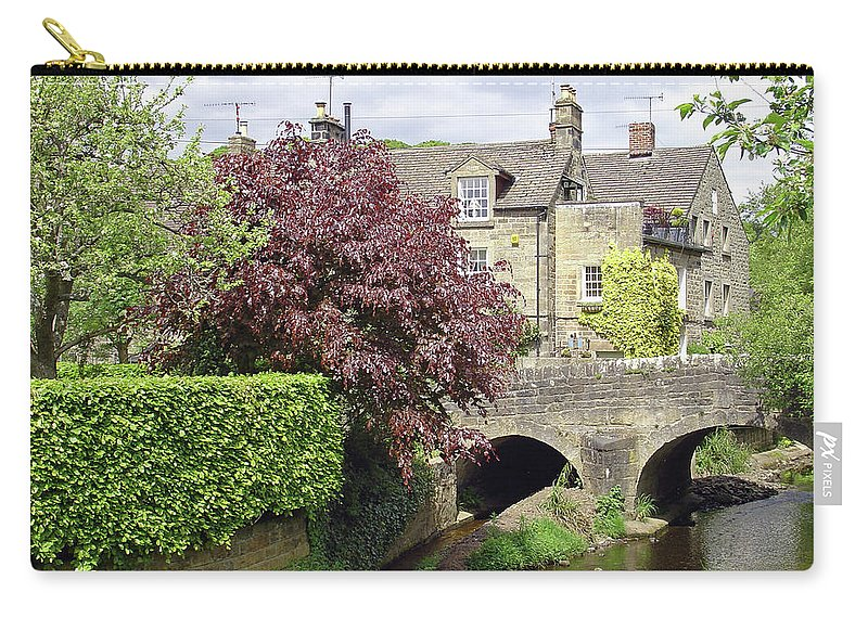 Brook Carry-all Pouch featuring the photograph Bar Brook And Bridge by Rod Johnson