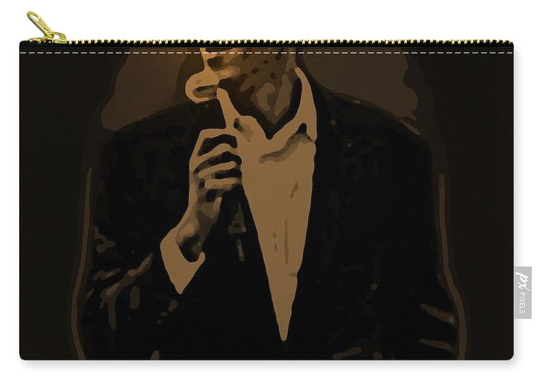 Barack Carry-all Pouch featuring the digital art Barack Obama by Helmut Rottler