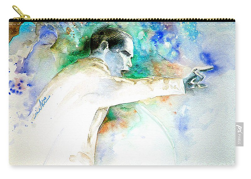 Portrait Barack Obama Carry-all Pouch featuring the painting Barack Obama Pointing At You by Miki De Goodaboom