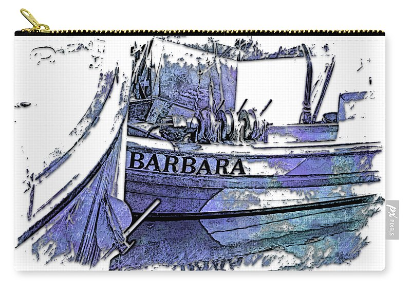 Berry Carry-all Pouch featuring the photograph Barbara Berry Blues 3 Dimensional by Di Designs