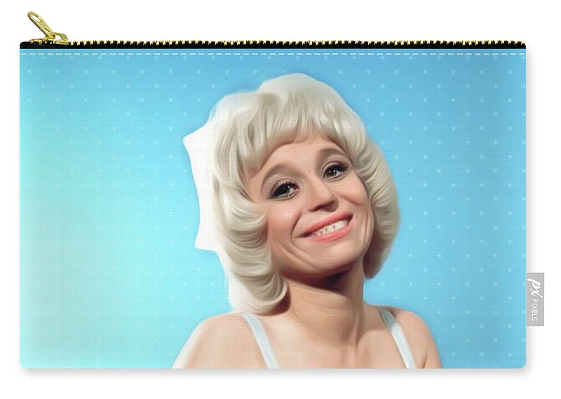 Barbara Carry-all Pouch featuring the digital art Barbara Windsor, Carry On Star by Mary Bassett