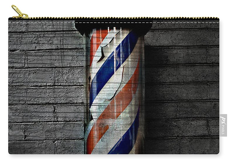 Popular Keywordsthe Keywords Carry-all Pouch featuring the photograph Barber Pole Blues by The Artist Project