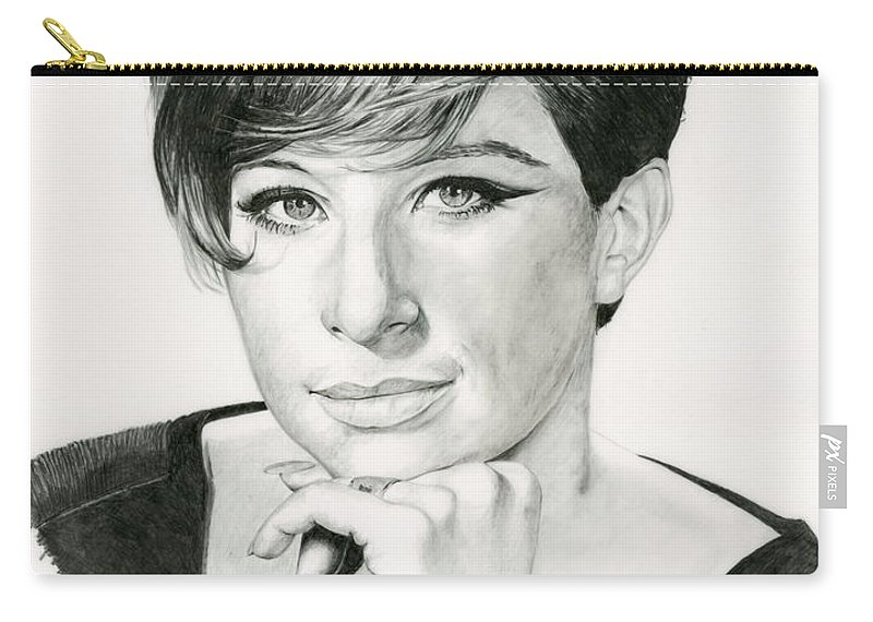Barbra Carry-all Pouch featuring the drawing Barbra by Rob De Vries
