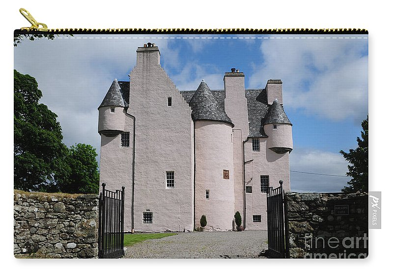 Barcaldine Castle Carry-all Pouch featuring the photograph Barcaldine Castle by Smart Aviation