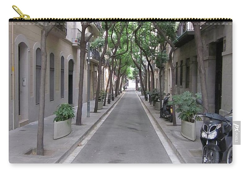 Barcelona Carry-all Pouch featuring the photograph Barcelona Barrio by Kat Cortez