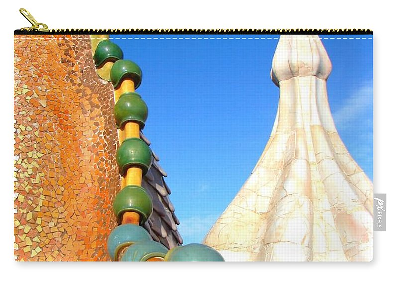 Barcelona Carry-all Pouch featuring the photograph Barcelona Impression 1 by Ana Maria Edulescu