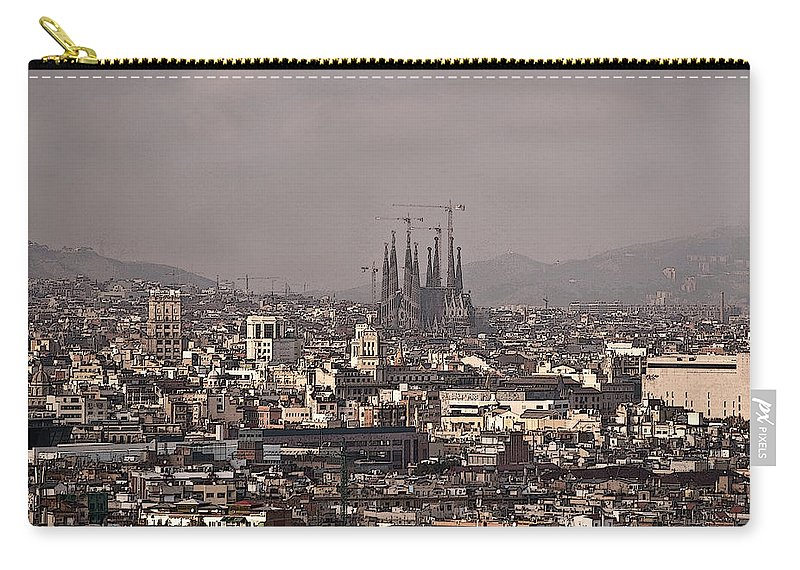 Barcelona Carry-all Pouch featuring the photograph Barcelona by Steven Sparks