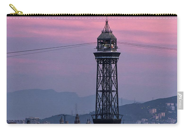 Barcelona Carry-all Pouch featuring the photograph Barcelona Sunset by John Greim
