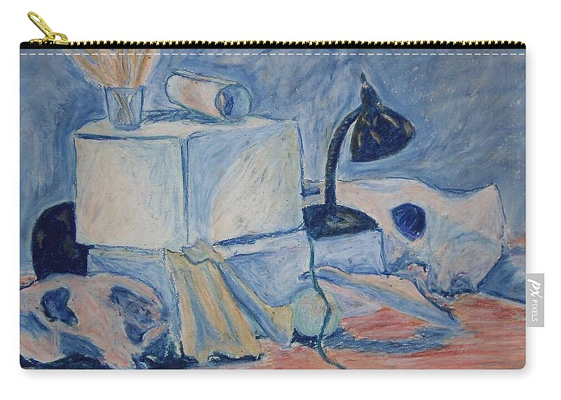 Still Life Carry-all Pouch featuring the pastel Bare Bones by Jean Haynes