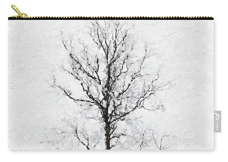 Bare Carry-all Pouch featuring the photograph Bare Tree by Pekka Liukkonen