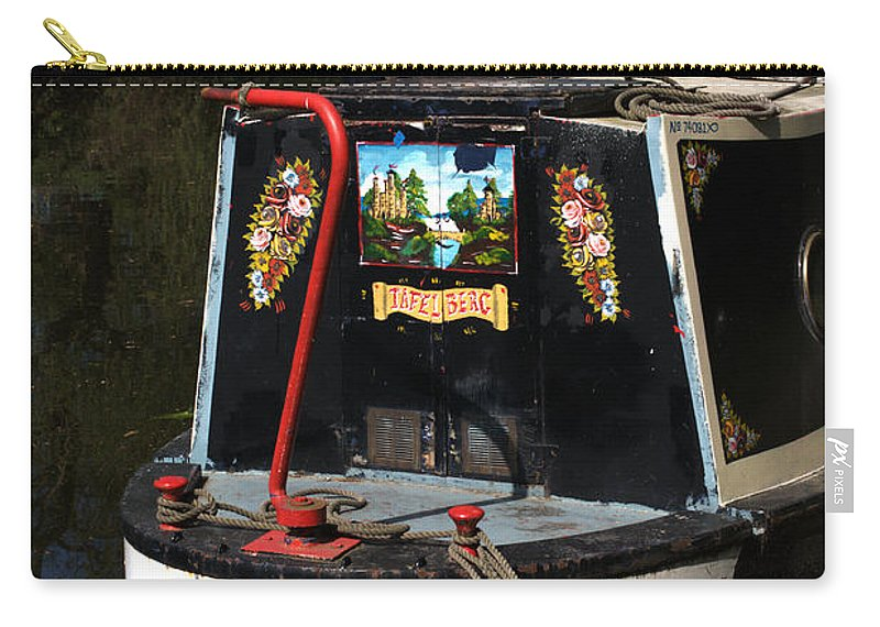 Barge Art Carry-all Pouch featuring the photograph Barge Art by Chris Day