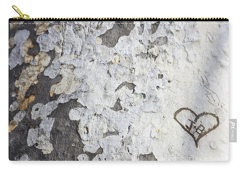 Bark Carry-all Pouch featuring the photograph Bark With Heart by Carol Groenen