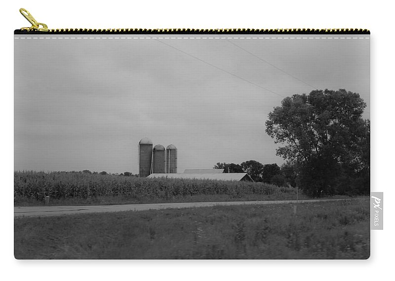 Carry-all Pouch featuring the photograph Barn 11 by John Bichler