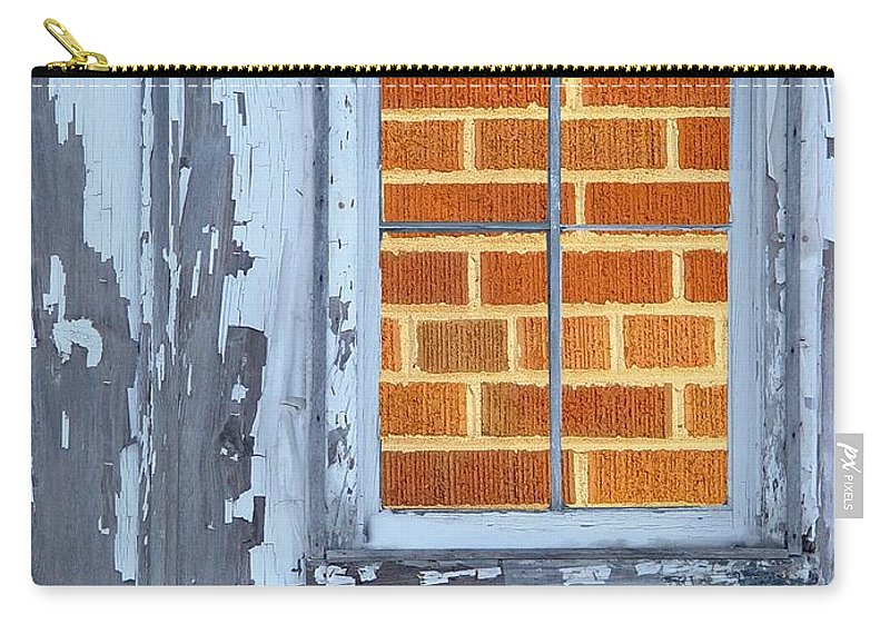 Barn Carry-all Pouch featuring the photograph Barn Brick Window by Tim Allen