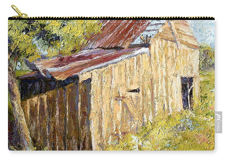 Oil Painting Carry-all Pouch featuring the painting Barn Door by Lewis Bowman