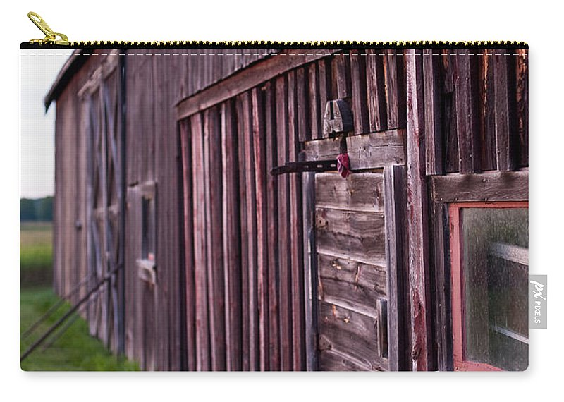 Rustic Carry-all Pouch featuring the photograph Barn Door Small by Steven Dunn