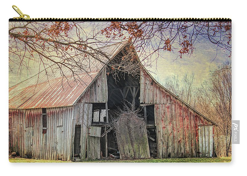 Barn Carry-all Pouch featuring the photograph Barn Of The Indian Summer by Lynn Sprowl