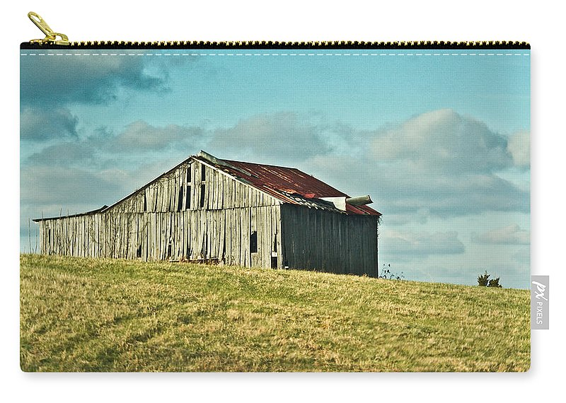 Barn Carry-all Pouch featuring the photograph Barn In Ill Repir by Douglas Barnett